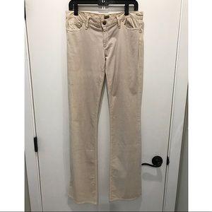 Goldsign Cream/Light Tan Corduroy Jeans