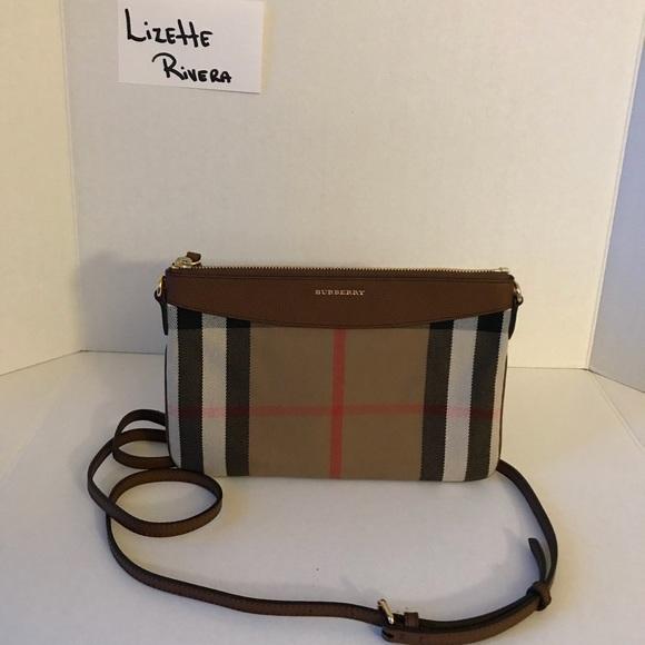 86e8f9ee43e4 Burberry Bags | Housecheck Derby Peyton Crossbody Brown | Poshmark
