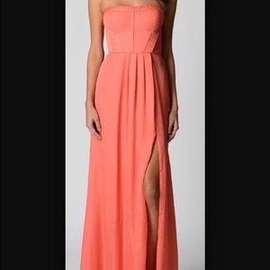 Pink/coral prom dress