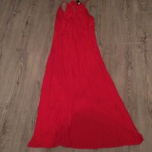 Red Forever 21+ Maxi Dress Size XL
