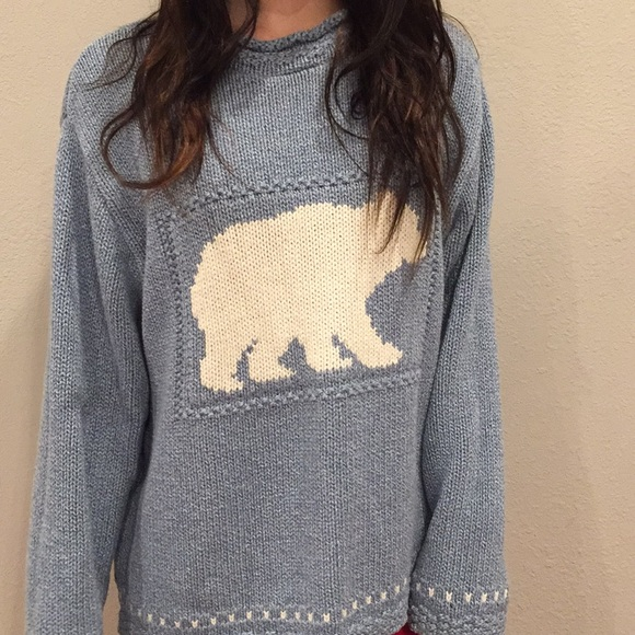 66% off cotton country Sweaters - Blue Cotton Country by Parkhurst ...