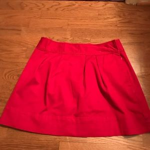 Vinyard Vines red preppy skirt with bow
