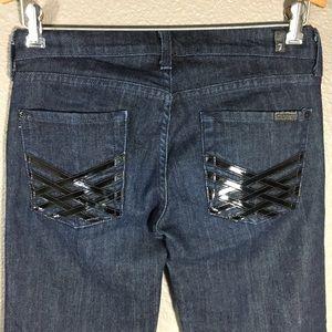 7 For All Mankind Dojo Lattice Patent Leather Wide