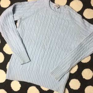 EUC!! GAP Wool Blend Crew Neck Cable Knit Sweater