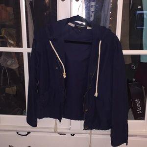 Forever 21 Navy Blue Zip-Up Jacket