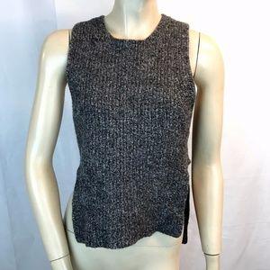 Madewell Knit Vest Top Gray Sleeveless Wool  S