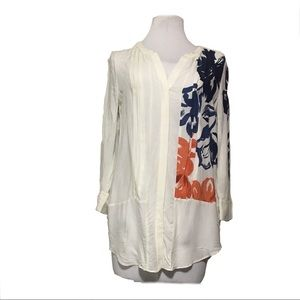 🌸Maeve pleated LS blouse/ tunic sz 10🌸
