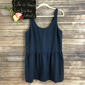 UO Coincidence and Chance blue drop hem tunic