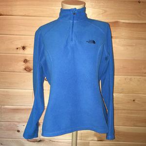 The North Face blue fleece jacket size medium