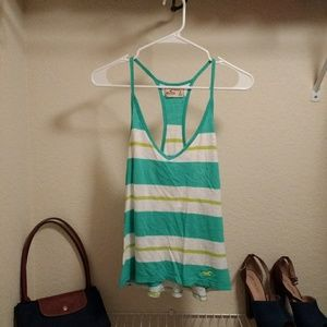 Hollister striped muscle racerback tank