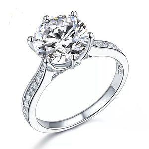 Stunning 3ct created diamond anniversary ring