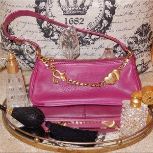Vintage Juicy Couture Pink Leather Shoulder Bag