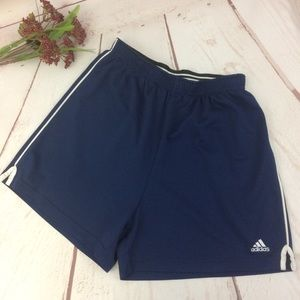 Adidas Blue & White Active Wear Shorts