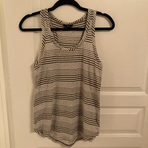 Forest green striped tank top from Gap