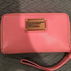 Marc by Marc Jacobs leather wristlet wallet.