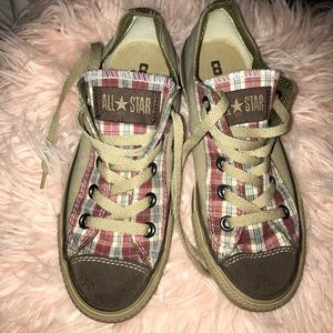 Plaid Converse Sneakers