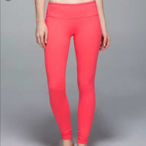 df6a19c44634e8 lululemon athletica Pants - LULULEMON Wunder under leggings. Coral sz sm