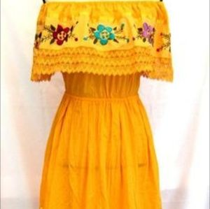 Yellow Mexican dress.....