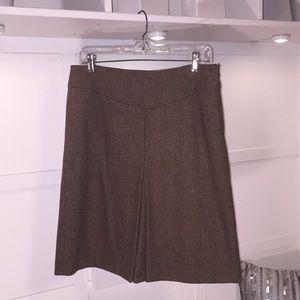 GAP Brown Tweed Wool Blend A-line Skirt. Sz 8