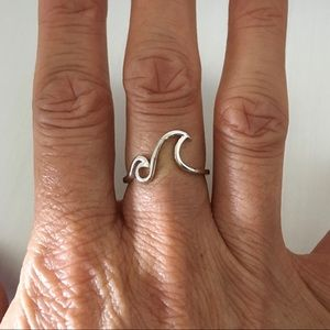 Sterling Silver Double Waves 🌊 Ring