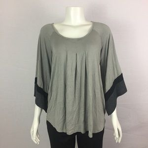 ANTHROPOLOGIE ELLA MOSS Gray Kimono Sleeves Sz M