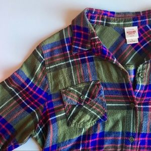{Merona} Plaid Flannel Button Down