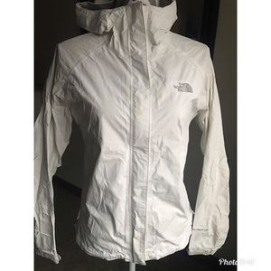 The North Face white hyvent Windbreaker