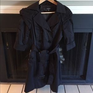 Bebe Satin Belted Trench