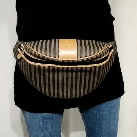 afca2ae89c56 Fendi Handbags - Vintage Fendi Striped Fanny Pack