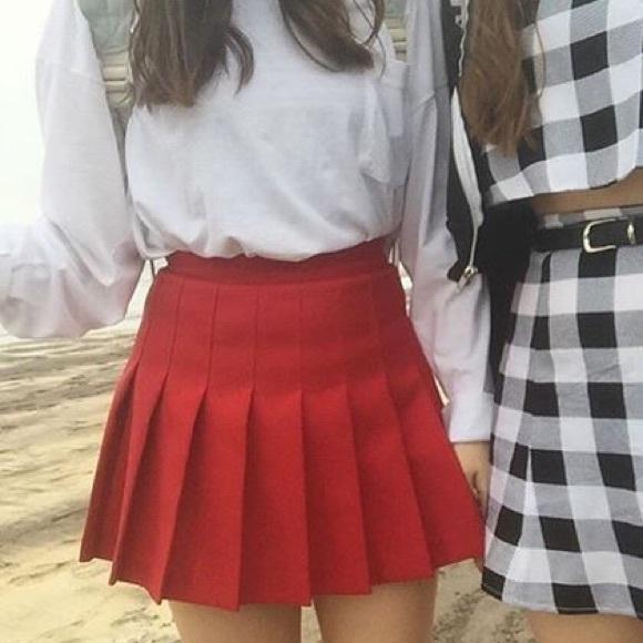 American Apparel Dresses   Skirts - american apparel red tennis skirt 2b82b18f2