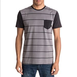 New with tags black and gray striped tshirt