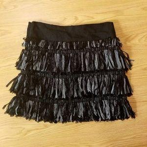 Milly Fringe black and White Skirt