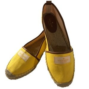 Kate Spade Espadrille Slip On Yellow Brown