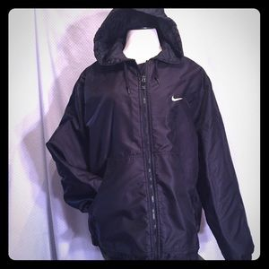 Nike coat XL 16/18 black quilted