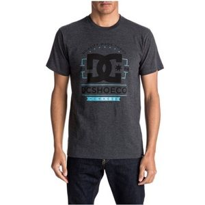 Dc gray and blue graphic tee