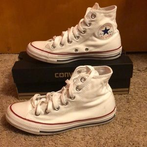 High-Top White Converse, Chuck Taylors