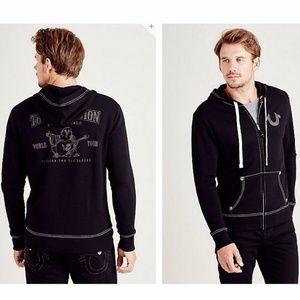 *NWT* TRUE RELIGION Buddha logo hoodie - Black