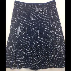 DVF Isabell Dot Print Skirt