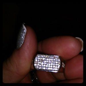 Mens diamond dust ring
