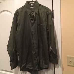 Green Sateen Shirt