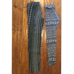 {2} Patterned Leggings