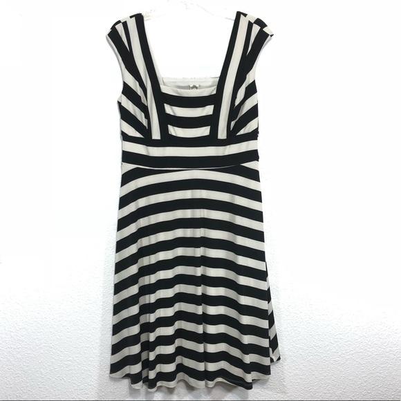 27e7370a56bf Sangria Black White Stripe Dress Sleeveless 12P. M_5a16579fea3f36d5a401bce1