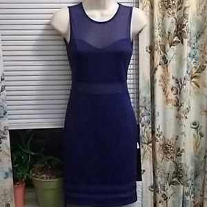 Two for $20 Blue purplish body cone dress H&M