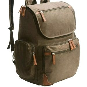 DOPP Buxton Rugged Oil Finished Canvas Backpack