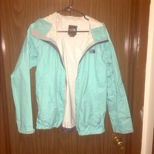 Light (Tiffany) Blue rain jacket - Northface