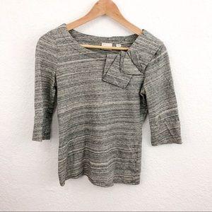 Anthro / Postmark gray top w ruffle size: XS