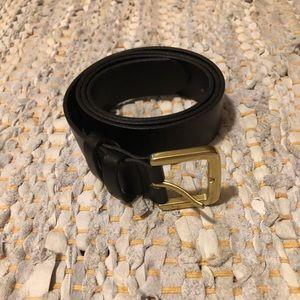 JCREW Black Leather Belt XS