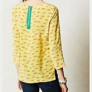 Anthropologie Maeve yellow cloud top
