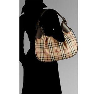 Burberry Hobo Haymarket Bag