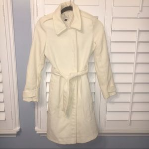 Old Navy Long Cream Pea Coat Size XS